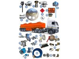 Запчасти и комплектующие для автоцистерн на базе КАМАЗ, МАЗ, ГАЗ