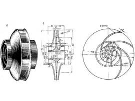 Рабочее колесо насоса 2СМ 80-50-200, запчасти насоса 2СМ 80-50-200